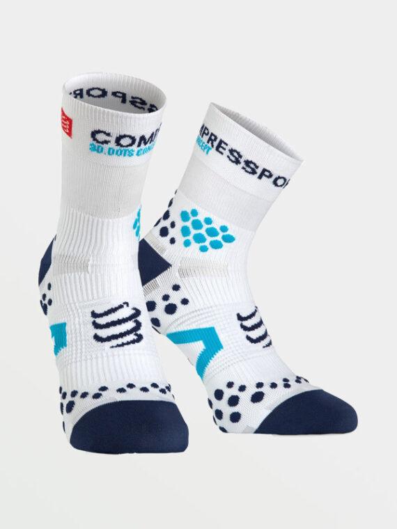 COMPRESSPORT Pro Race Socks v1.2 High White-Blue