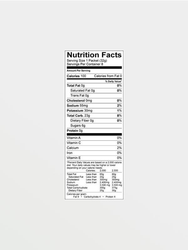 GU Energy Gel Lemon Sublime 32g, διατροφικές πληροφορίες