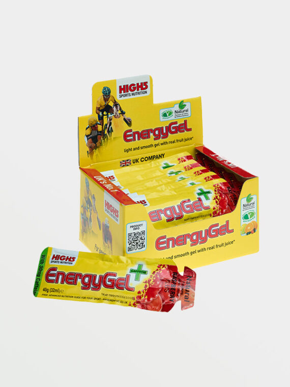HIGH5 Energy Gel Plus Raspberry 20x40g