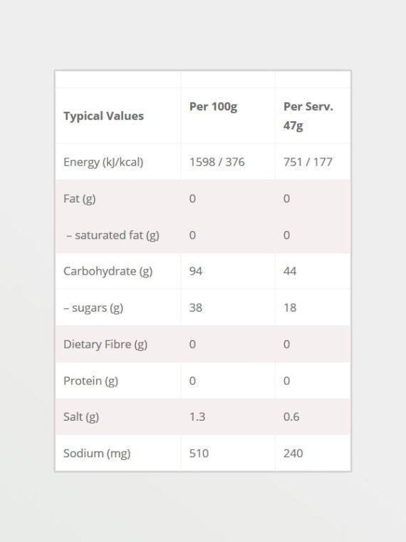 HIGH5 Energy Source Orange 47g, διατροφικές πληροφορίες