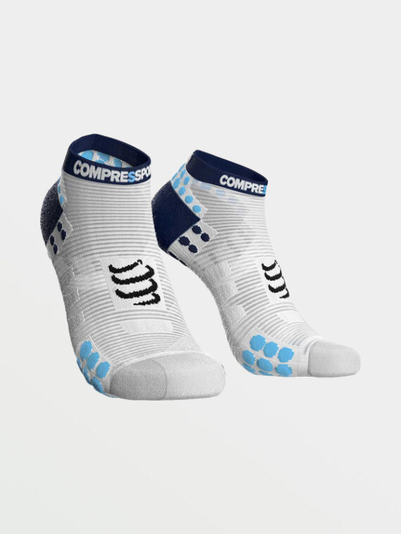 COMPRESSPORT - Proracing Socks v3 Low Run White Blue Dots