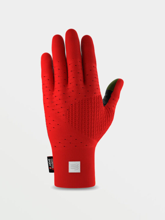 COMPRESSPORT Running Gloves Red