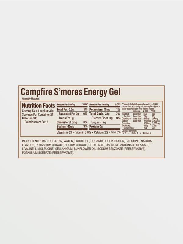 GU EnergyGel Campfire S'Mores - Διατροφικές Πληροφορίες