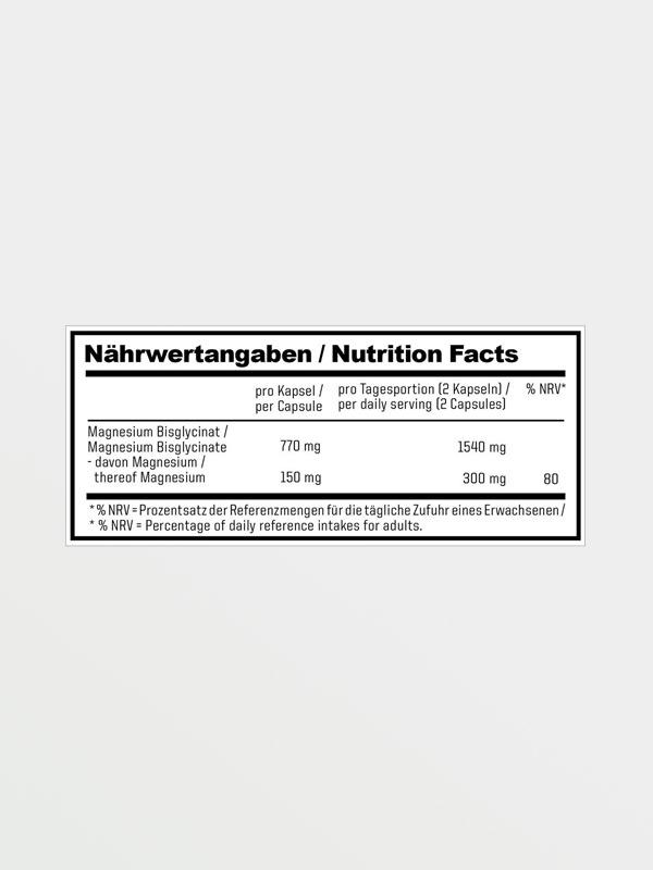 ESN Magnesium 120 caps - Διατροφικές Πληροφορίες