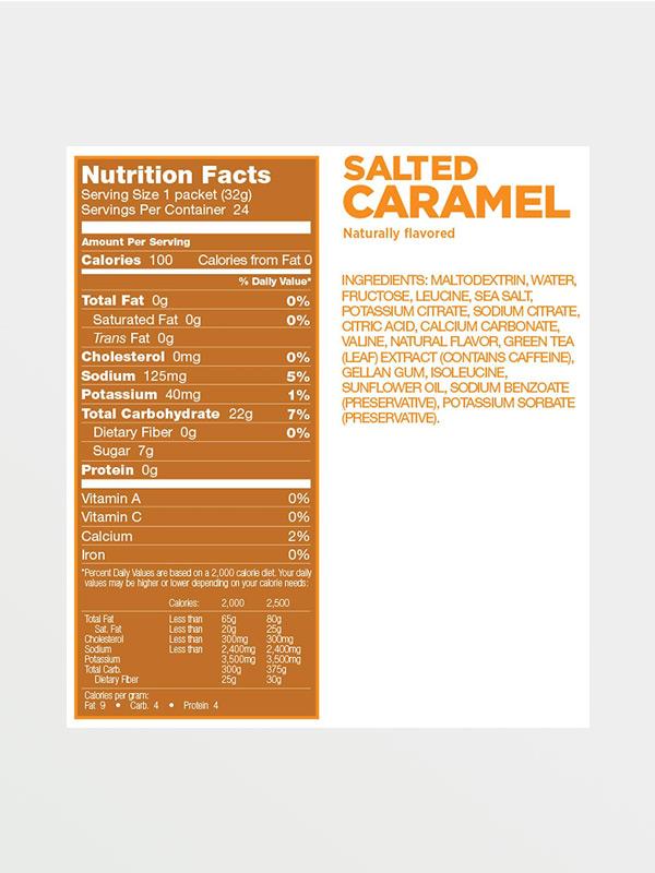 GU EnergyGel - Salted Caramel - Διατροφικές Πληροφορίες