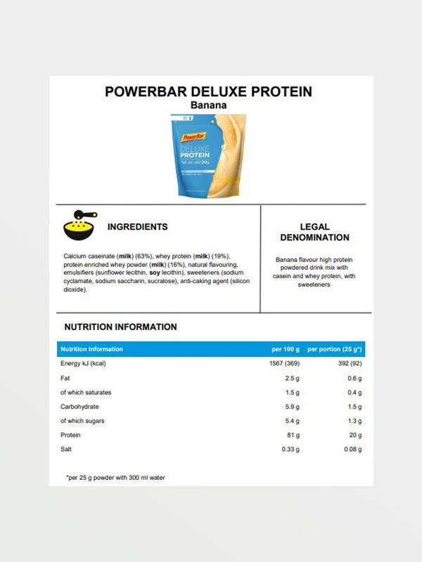 POWERBAR Delux Protein Banana - Διατροφικές Πληροφορίες